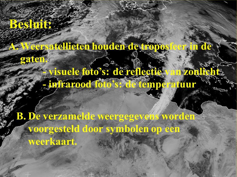 Besluit: Weersatellieten houden de troposfeer in de gaten.