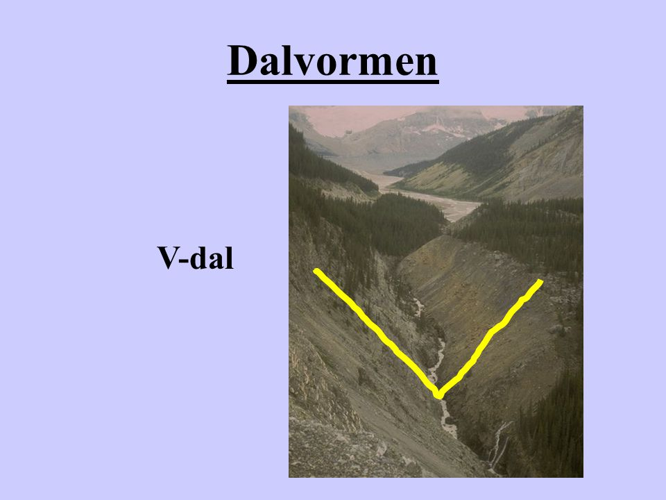 Dalvormen V-dal