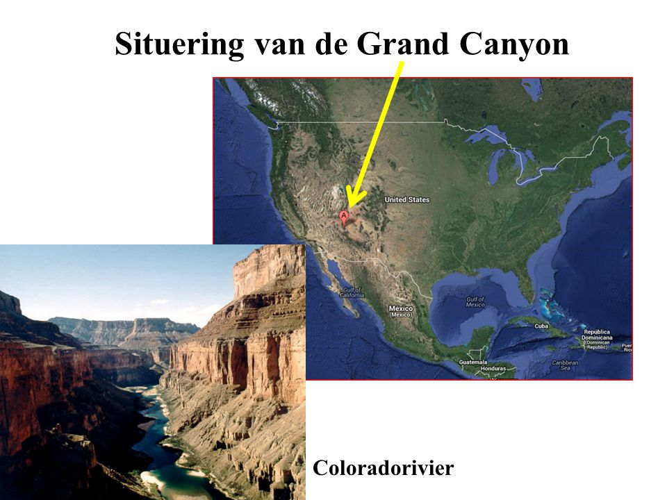 Situering van de Grand Canyon