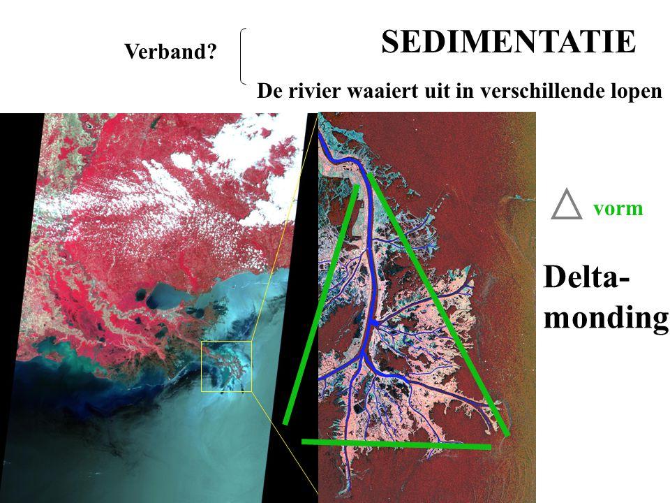 SEDIMENTATIE Delta- monding Verband
