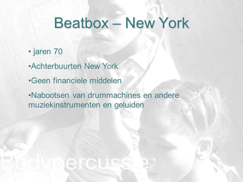 Beatbox – New York jaren 70 Achterbuurten New York