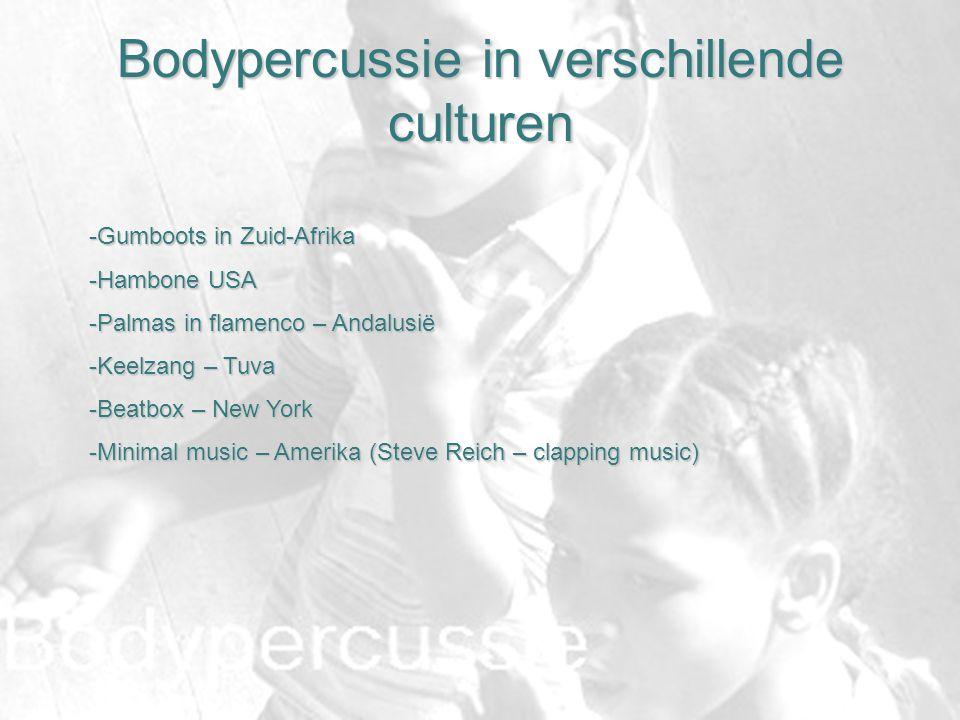 Bodypercussie in verschillende culturen