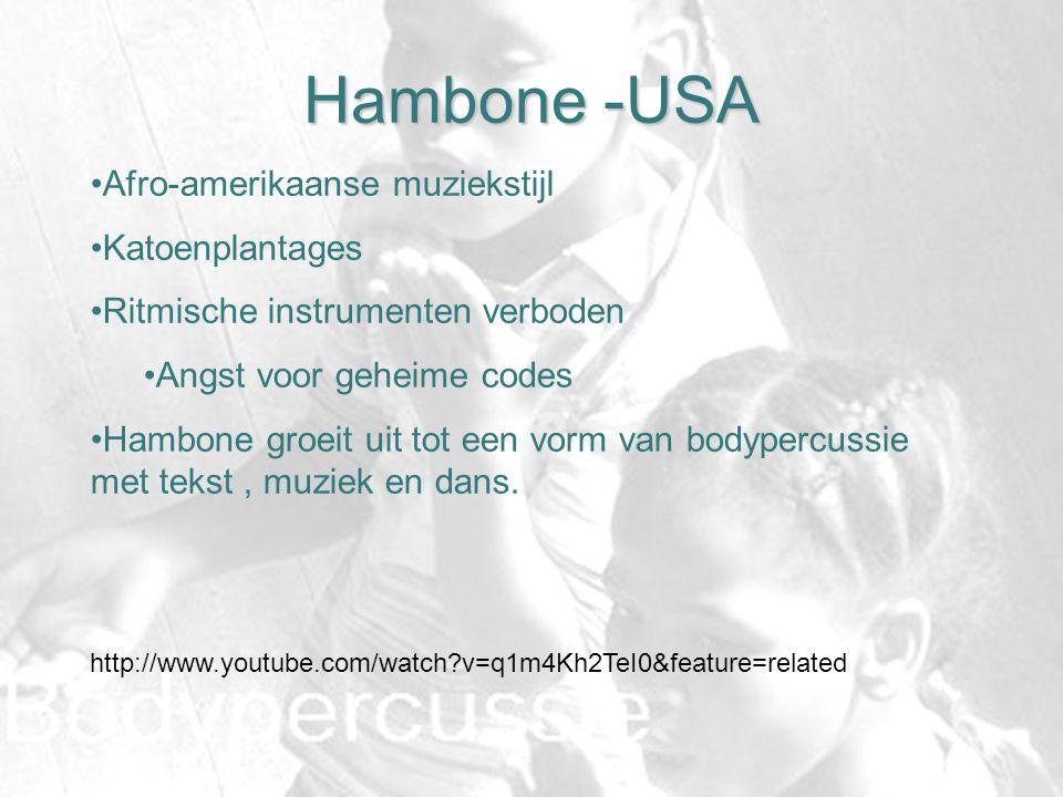 Hambone -USA Afro-amerikaanse muziekstijl Katoenplantages