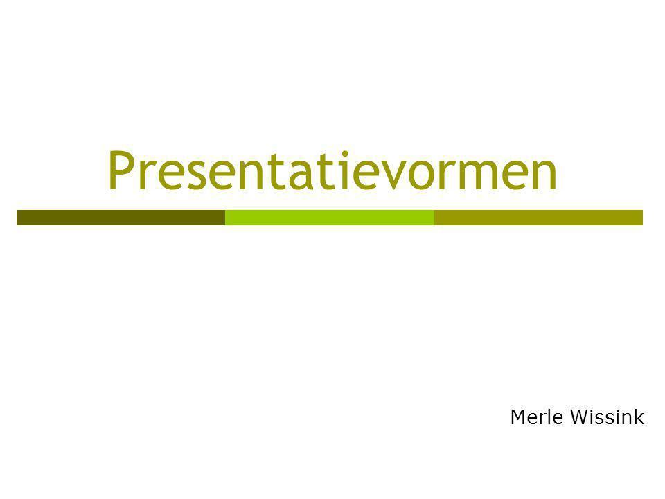Presentatievormen Merle Wissink