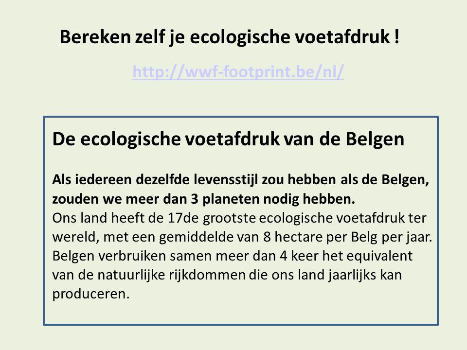Bereken zelf je ecologische voetafdruk !