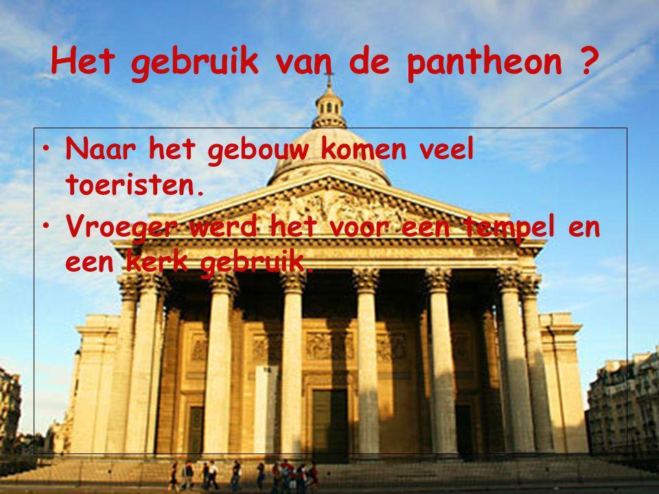 Het gebruik van de pantheon