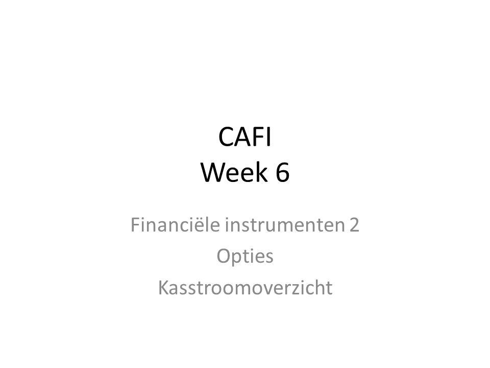 Financiële instrumenten 2 Opties Kasstroomoverzicht