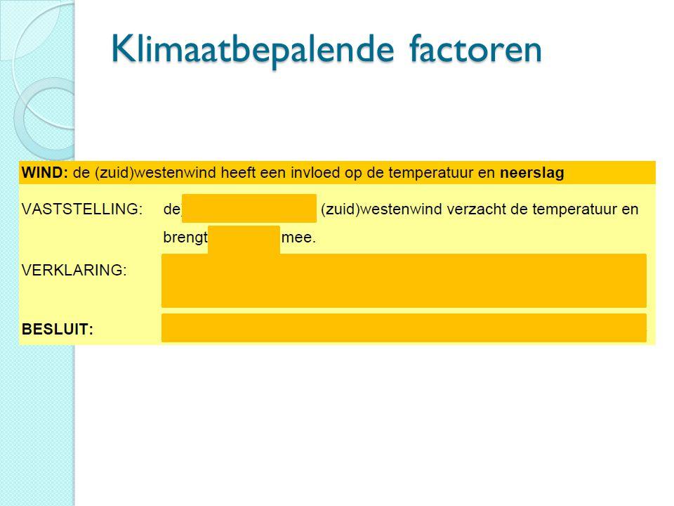 Klimaatbepalende factoren