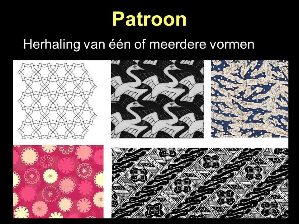 Patroon Herhaling van één of meerdere vormen