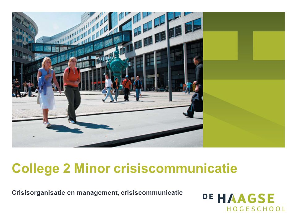 College 2 Minor crisiscommunicatie