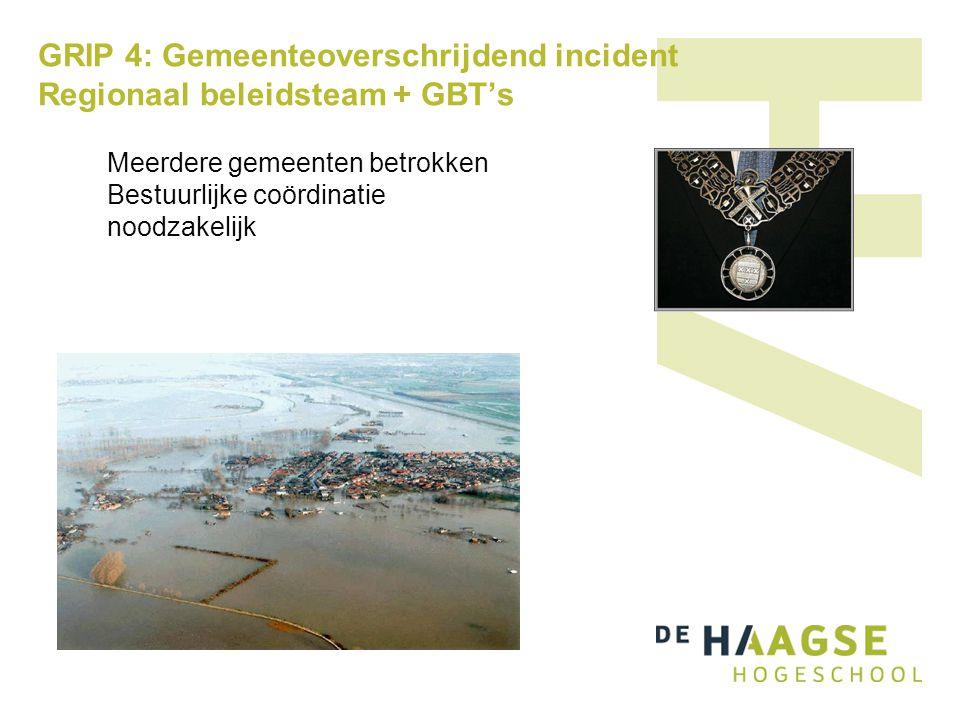GRIP 4: Gemeenteoverschrijdend incident Regionaal beleidsteam + GBT's