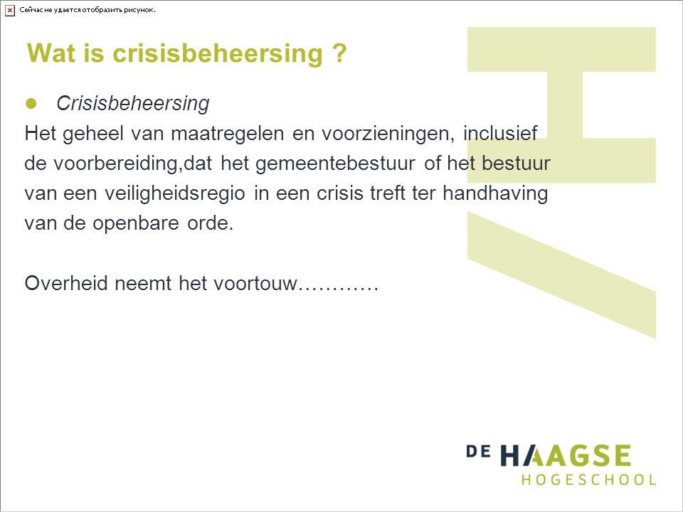 Wat is crisisbeheersing