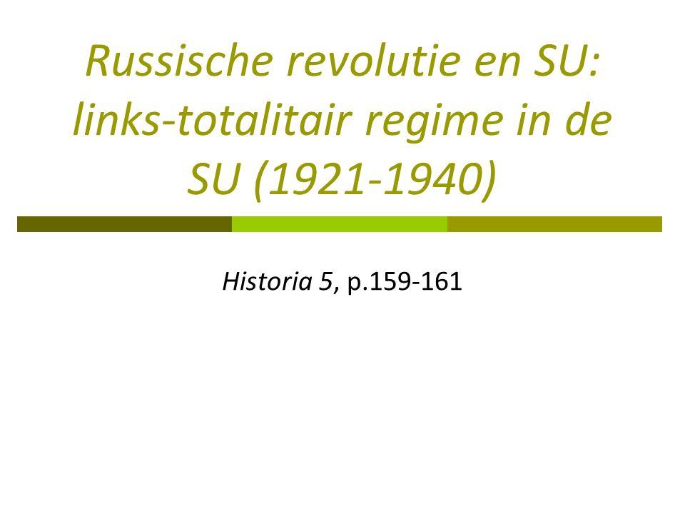 Russische revolutie en SU: links-totalitair regime in de SU (1921-1940)