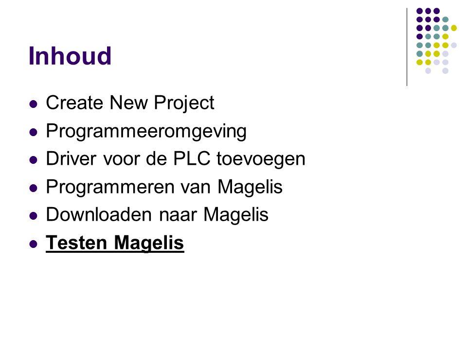 Inhoud Create New Project Programmeeromgeving