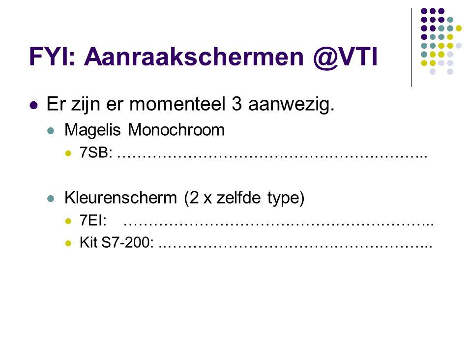 FYI: Aanraakschermen @VTI