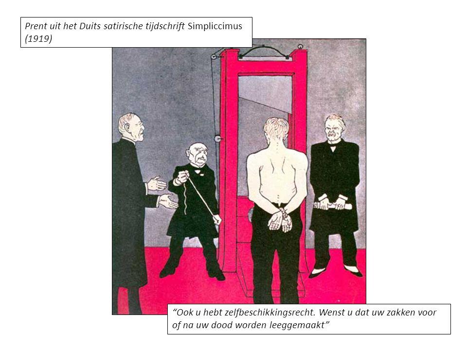 Prent uit het Duits satirische tijdschrift Simpliccimus (1919)