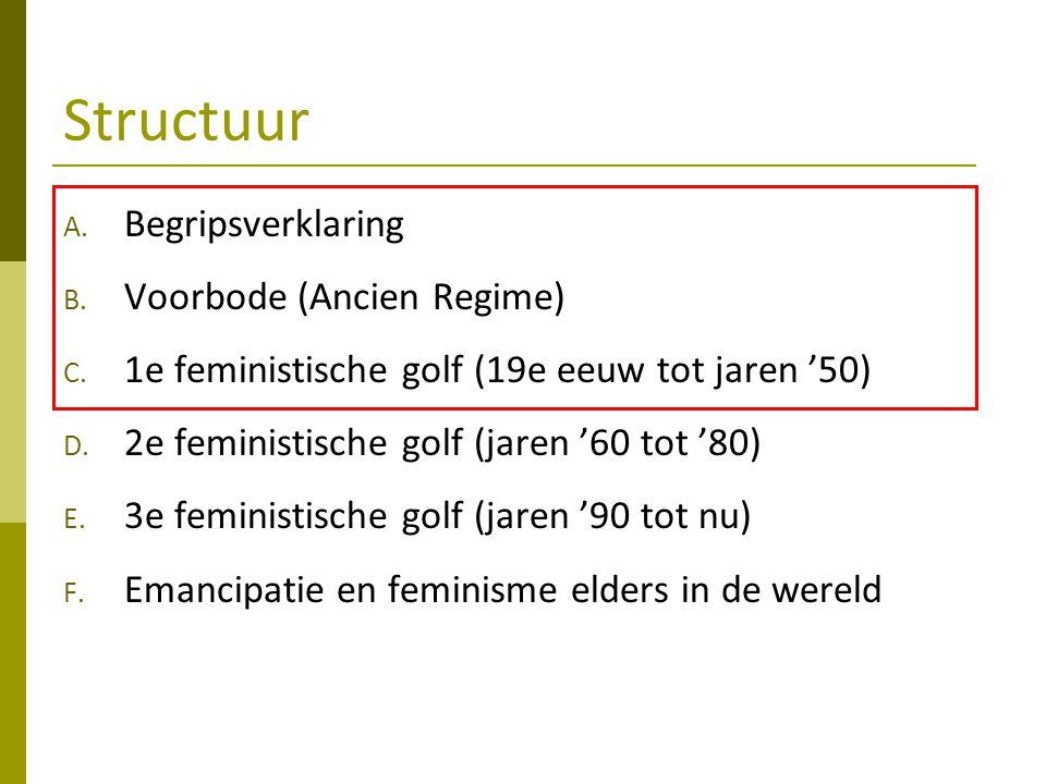 Structuur Begripsverklaring Voorbode (Ancien Regime)