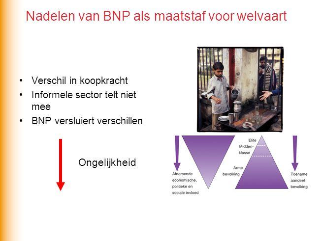 Nadelen van BNP als maatstaf voor welvaart