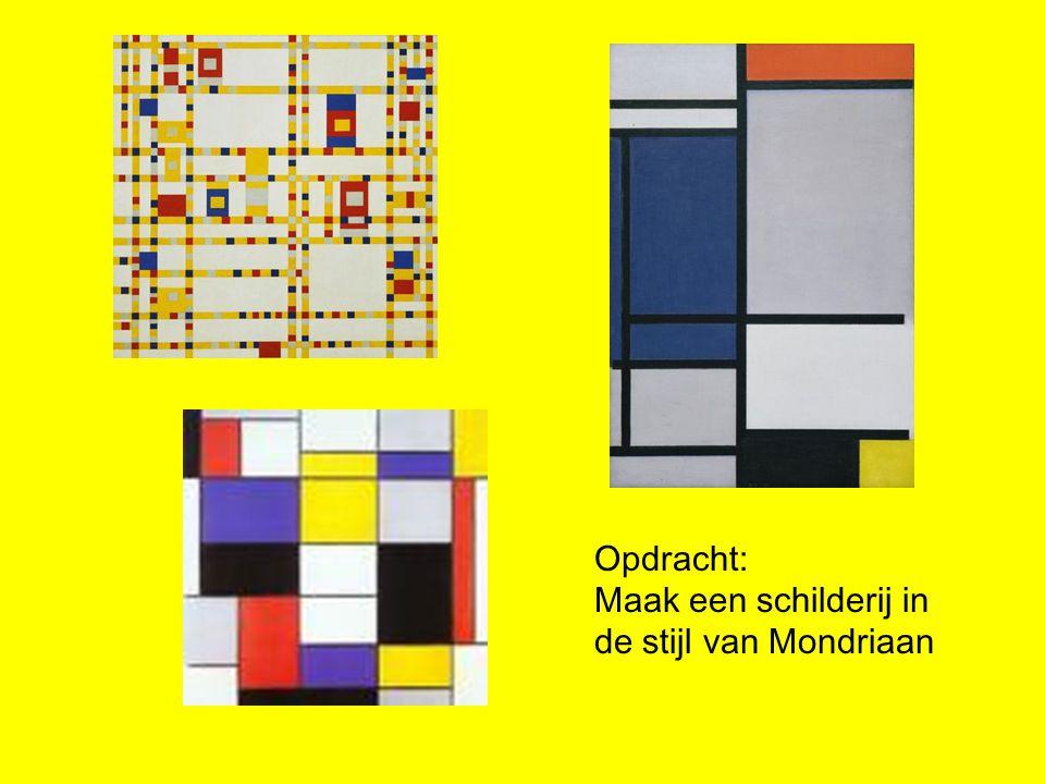 Opdracht: Maak een schilderij in de stijl van Mondriaan