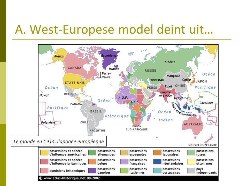 A. West-Europese model deint uit…