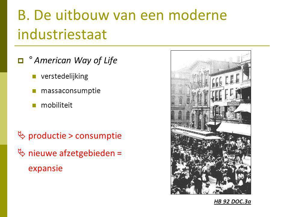 B. De uitbouw van een moderne industriestaat
