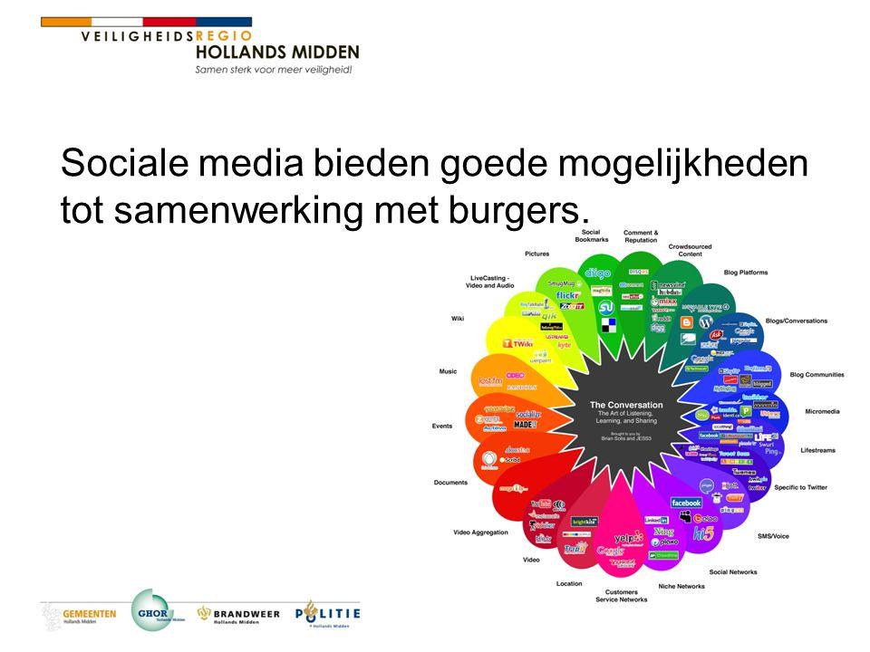 Sociale media bieden goede mogelijkheden tot samenwerking met burgers.