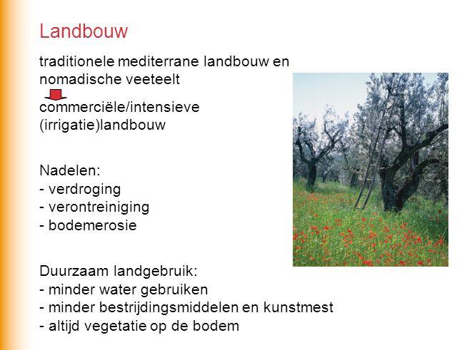 Landbouw traditionele mediterrane landbouw en nomadische veeteelt