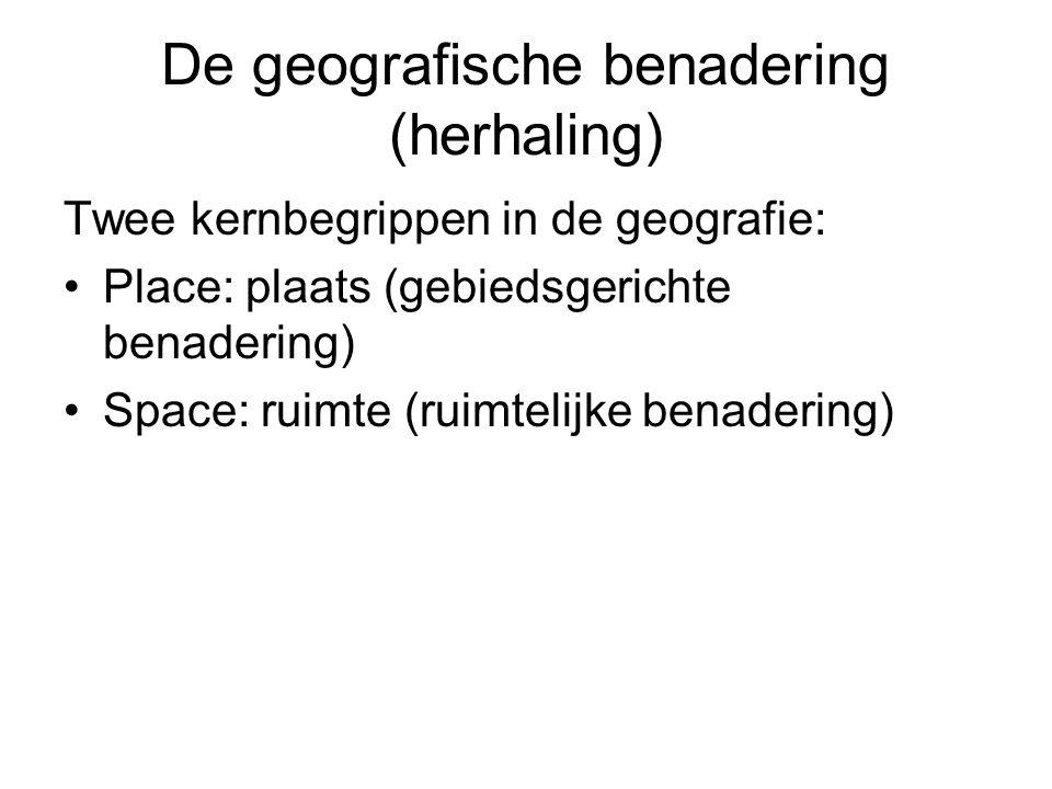 De geografische benadering (herhaling)