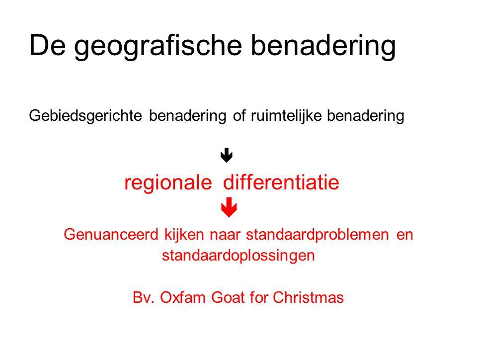 De geografische benadering