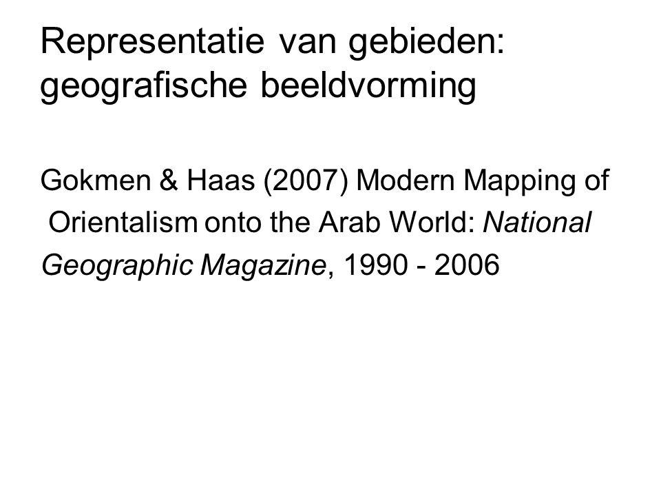 Representatie van gebieden: geografische beeldvorming