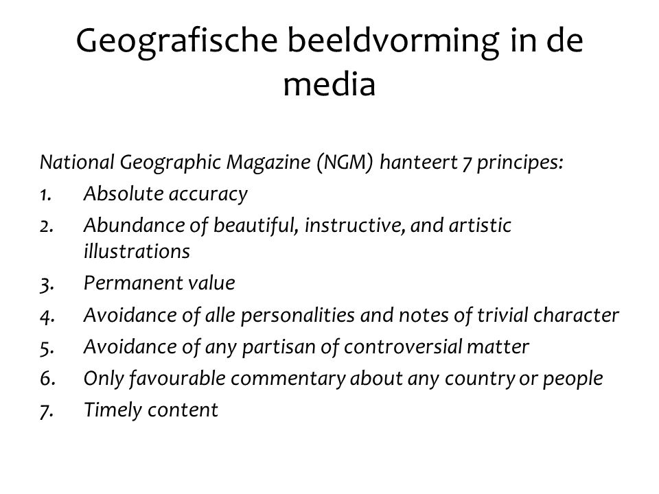 Geografische beeldvorming in de media