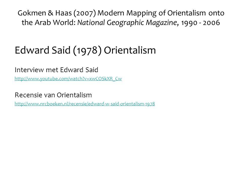 Edward Said (1978) Orientalism