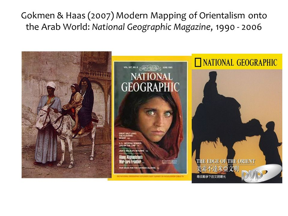 Gokmen & Haas (2007) Modern Mapping of Orientalism onto the Arab World: National Geographic Magazine, 1990 - 2006