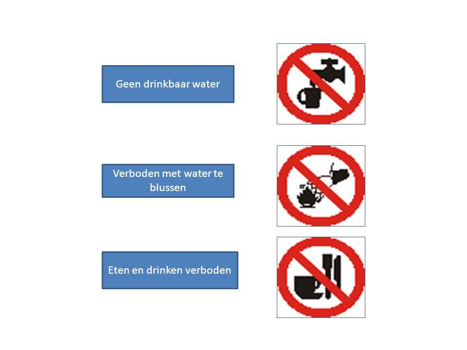 Verboden met water te blussen