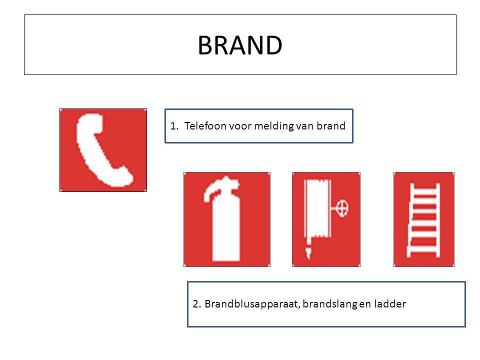 BRAND 1. Telefoon voor melding van brand