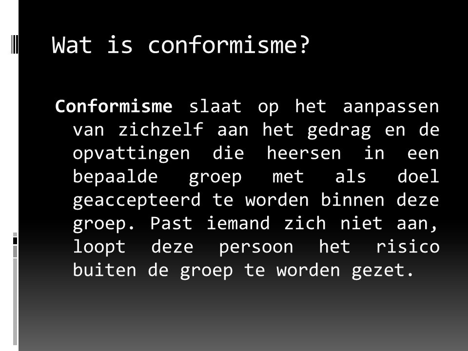Wat is conformisme