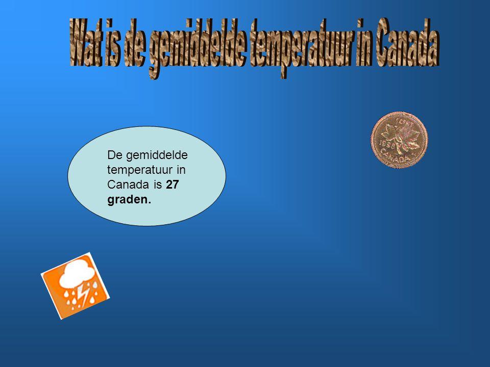 Wat is de gemiddelde temperatuur in Canada