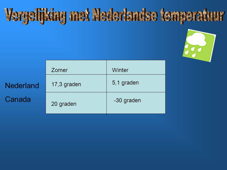 Vergelijking met Nederlandse temperatuur