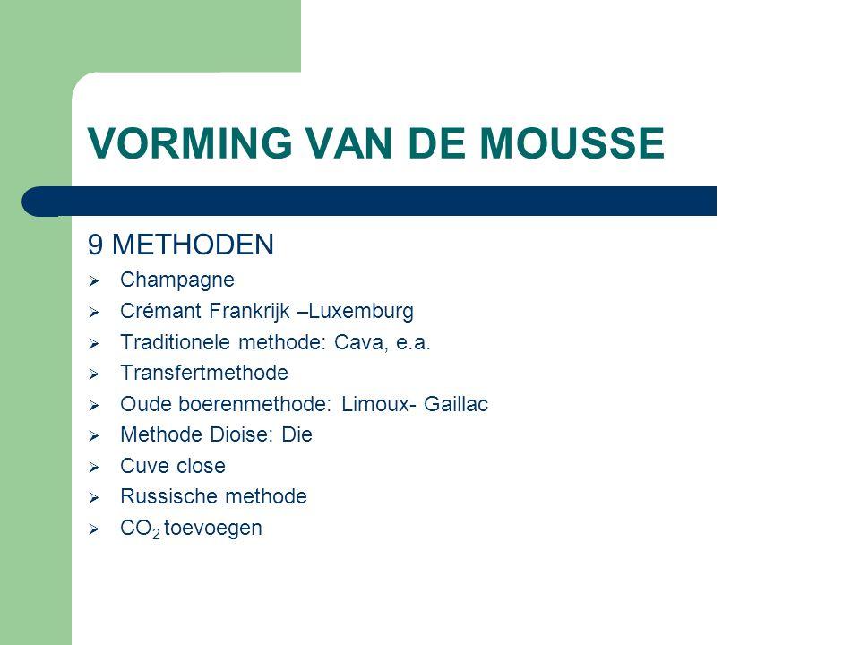 VORMING VAN DE MOUSSE 9 METHODEN Champagne