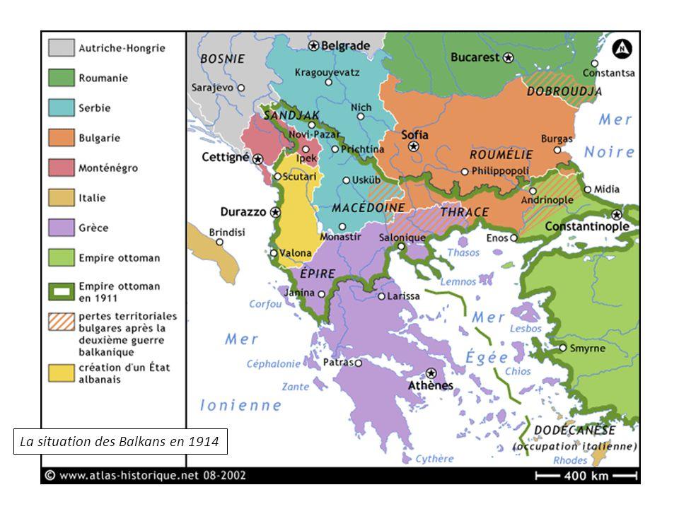 La situation des Balkans en 1914