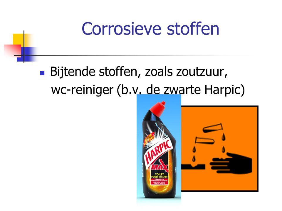 Corrosieve stoffen Bijtende stoffen, zoals zoutzuur,