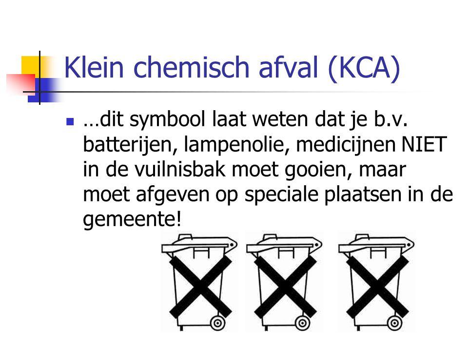 Klein chemisch afval (KCA)