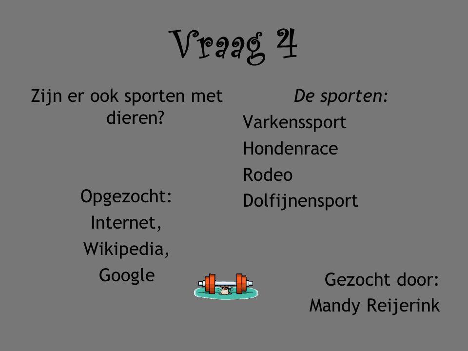 Zijn er ook sporten met dieren Opgezocht: Internet, Wikipedia, Google