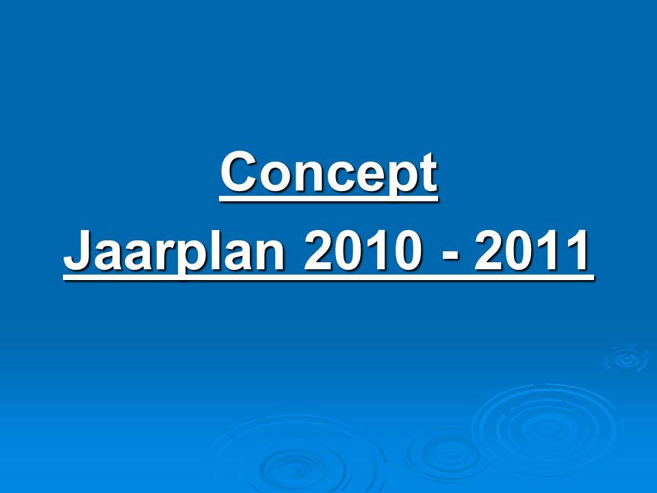 Concept Jaarplan 2010 - 2011
