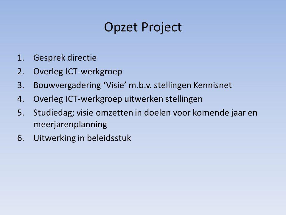 Opzet Project Gesprek directie Overleg ICT-werkgroep