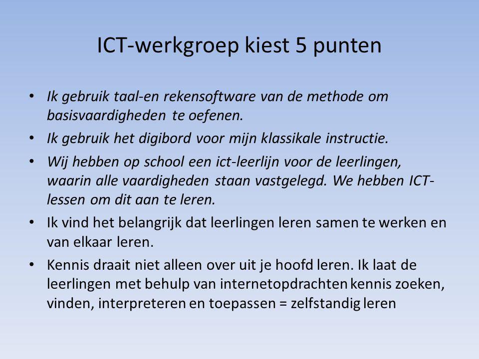 ICT-werkgroep kiest 5 punten