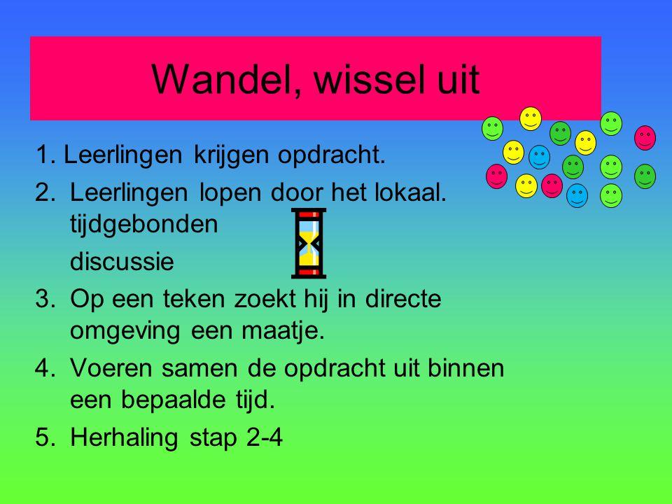 Wandel, wissel uit 1. Leerlingen krijgen opdracht.