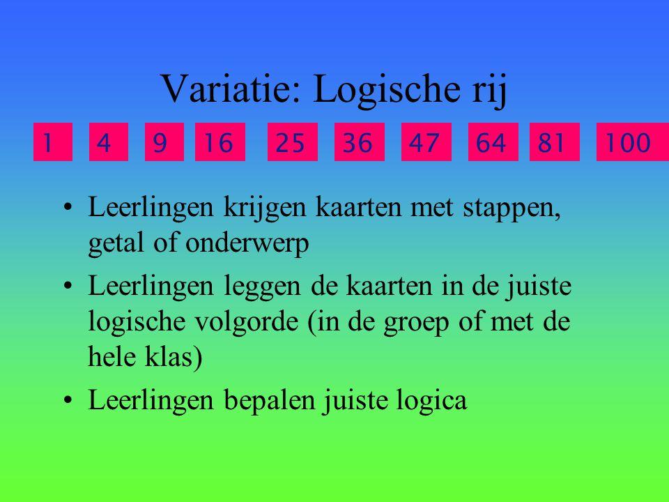 Variatie: Logische rij