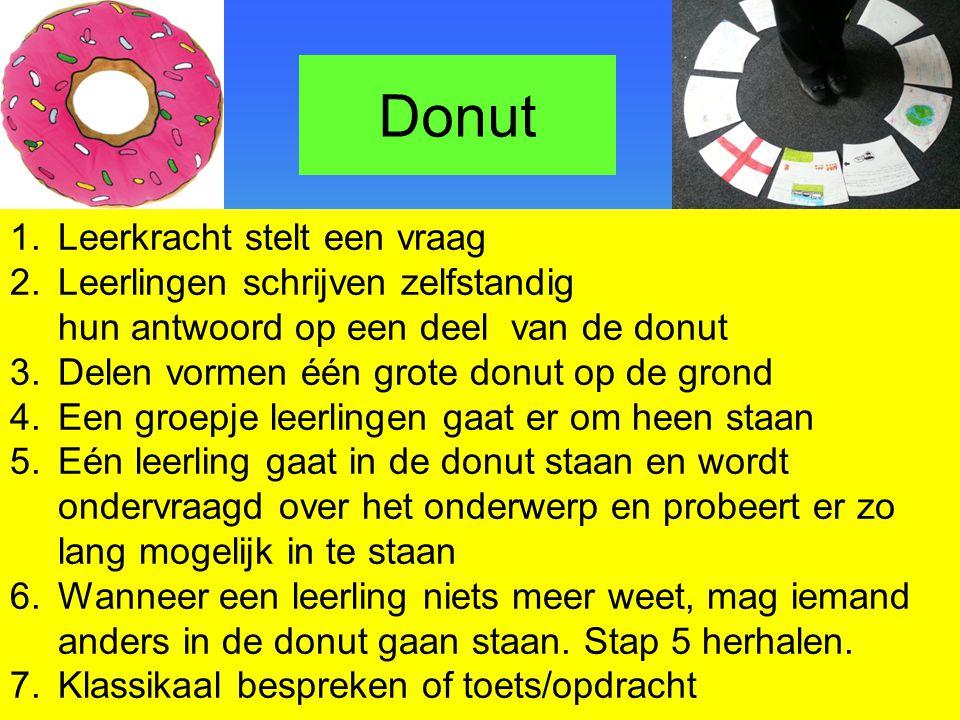 Donut Leerkracht stelt een vraag