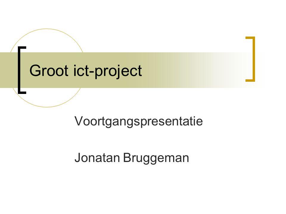 Voortgangspresentatie Jonatan Bruggeman